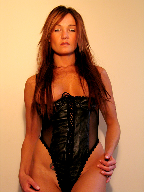 Lingerie Photography 01 - Sexy & Sultry Lingerie Model In Leather & Lace!